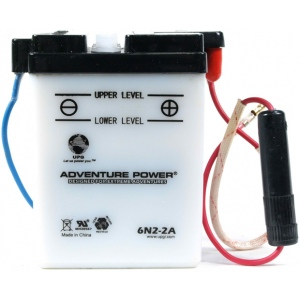 UPG Adventure Power Lead-Acid Conventional: 6N2-2A, 2 AH, 6V