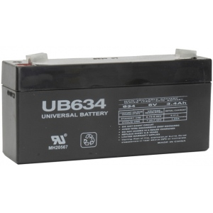 UPG Sealed Lead Acid AGM: UB634, 3.4 AH, 6V