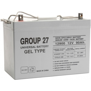 UPG Sealed Lead Acid Gel: UB-27 Gel, 90 AH, 12V