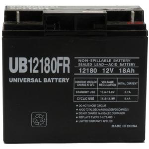 UPG Flame Retardant Sealed Lead Acid AGM: UB12180FR, 18 AH, 12V
