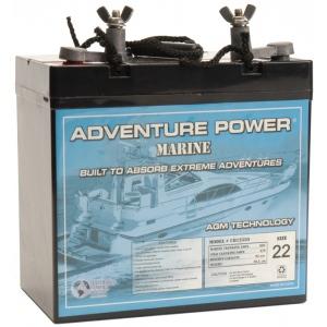 UPG Adventure Power Marine AGM: UB12550 (Group 22NF), 55 AH, 12V