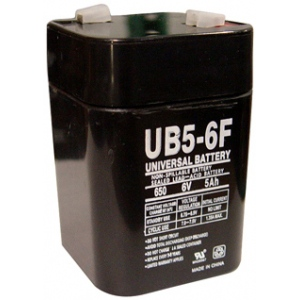 UPG Sealed Lead Acid AGM: UB650F Lantern, 5 AH, 6V