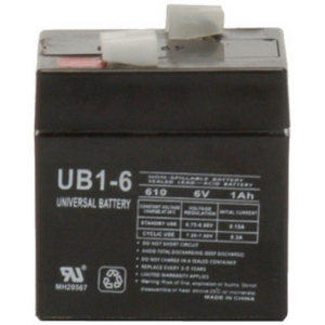 UPG Sealed Lead Acid AGM: UB610, 1 AH, 6V