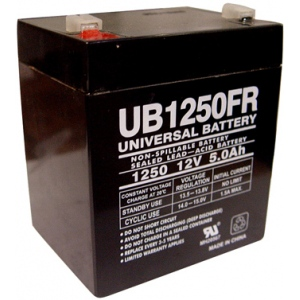 UPG Flame Retardant Sealed Lead Acid AGM: UB1250FR, 5 AH, 12V
