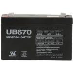 UPG Sealed Lead Acid AGM: UB670, 7 AH, 6V