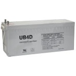 UPG Sealed Lead Acid Gel: UB-4D Gel, 180 AH, 12V